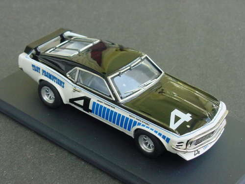 SMTS: 1971 Mustang Trans Am - White / Black #4 in 1:43 scale