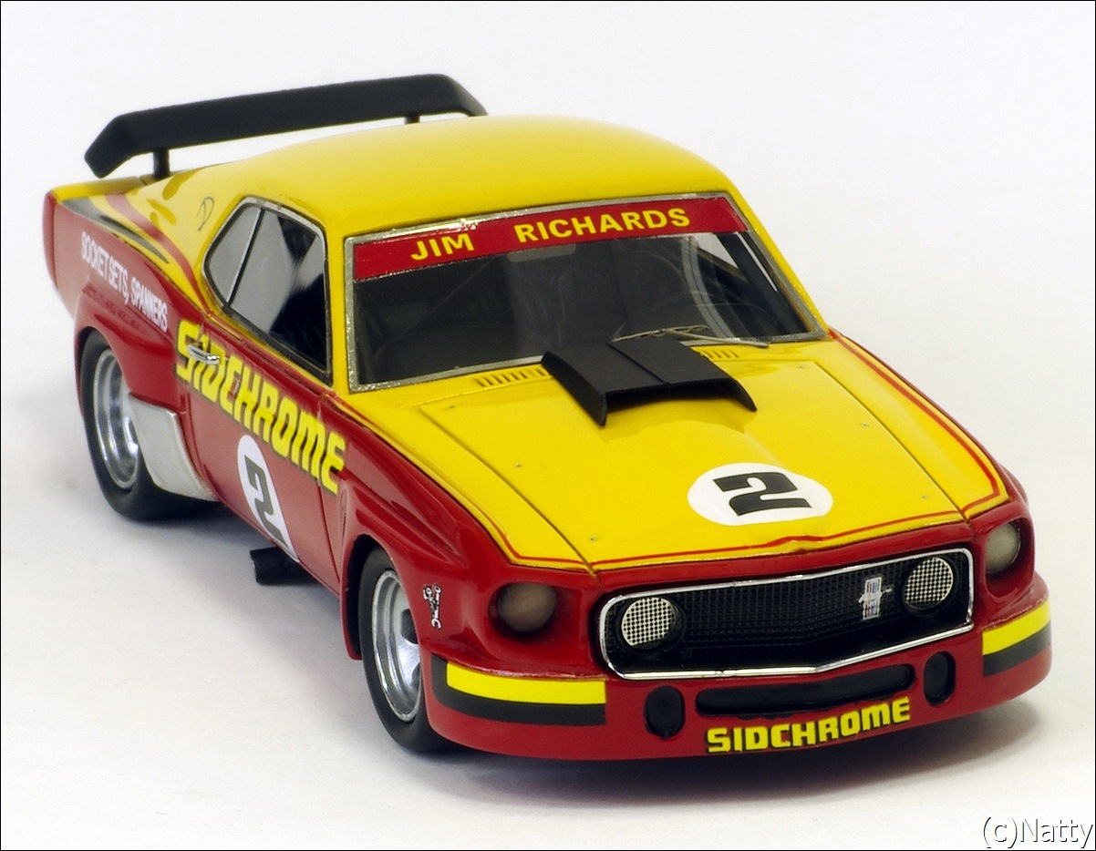 Armco Model Cars: 1975 Ford Mustang - Yellow/Red (Armco Race Series Car No7 ) in 1:43 scale . Picture provided by Natty, 2011-05-23 03:52:55