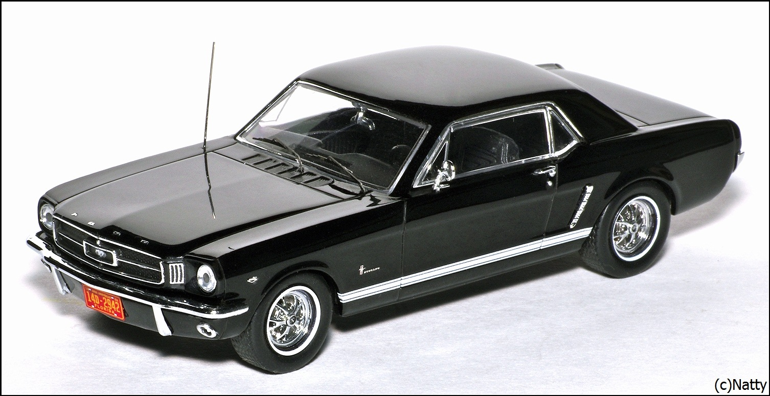 Premium x 1965 ford mustang black prd204 in 143 scale