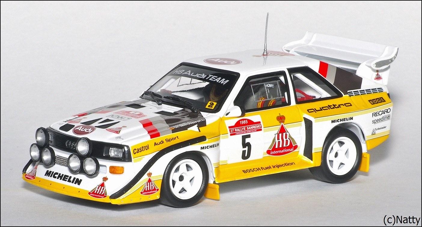 minichamps 1985 audi sport quattro s1 rallye san remo. Black Bedroom Furniture Sets. Home Design Ideas