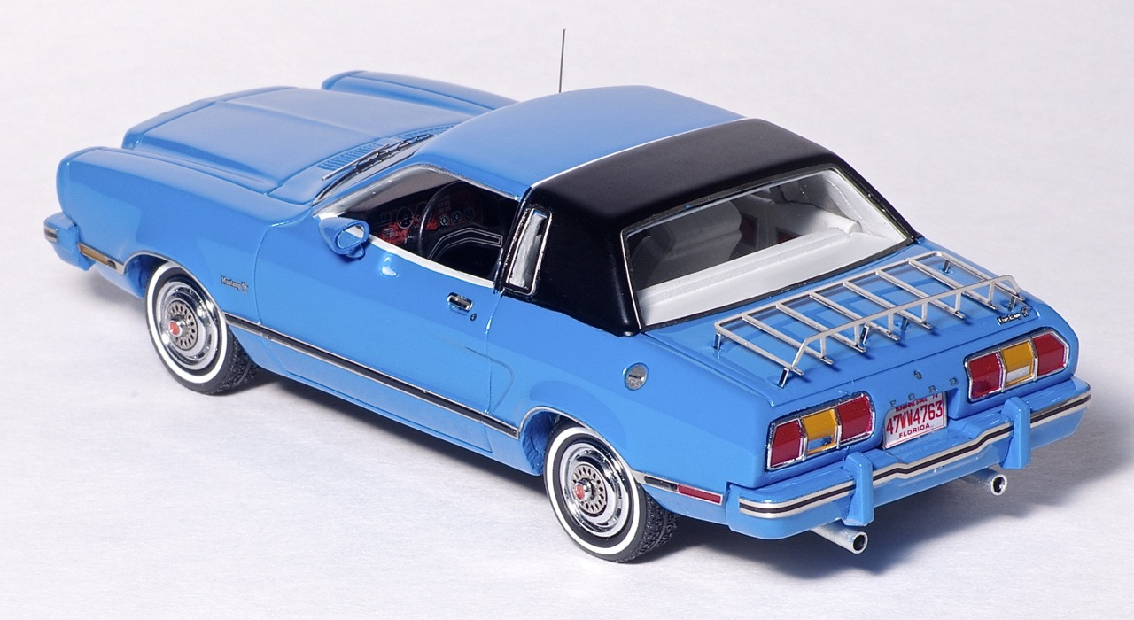 American Excellence: 1974 Ford Mustang II Ghia - Blue / Black (44760) in 1:43 scale . Picture provided by Natty, 2013-03-28 01:54:32