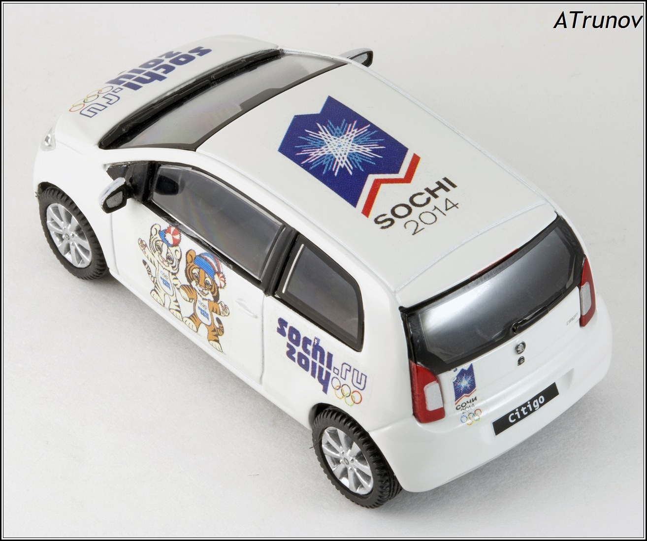 Abrex: 2011 Skoda Citigo Sochi 2014 Olympic - White (143AB-021E) in 1:43 scale . Picture provided by Natty, 2015-01-13 01:29:26