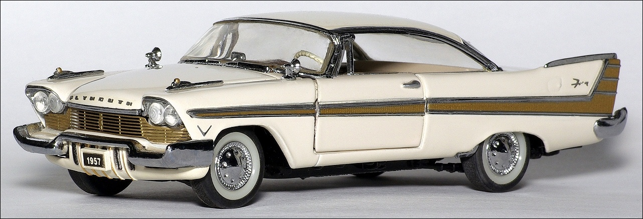 Franklin Mint: 1957 Plymouth Fury - Beige (UW 51) in 1:43 ...