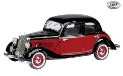 Schuco: 1936-42 Mercedes-Benz 170V Limousine - Black-red (02468) in 1:43 scale