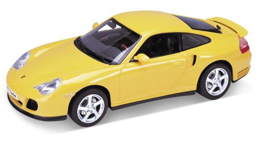 Welly: Porsche 911 Turbo - Yellow (9850) в 1:18 масштабе