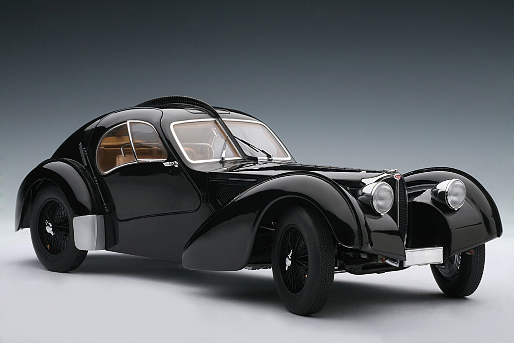 AUTOart: 1938 Bugatti 57SC Atlantic - Black w/ Disc Wheels (70941) im 1:18 maßstab . Picture provided by Alex, 2010-02-02 23:41:16