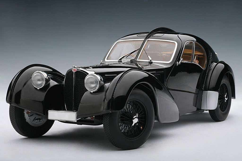 AUTOart: 1938 Bugatti 57SC Atlantic - Black w/ Disc Wheels (70941) im 1:18 maßstab