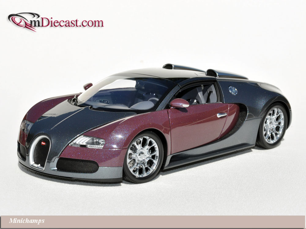 Minichamps: 2010 Bugatti Veyron Grand Sport - Graphite/Grey (100 110830) in 1:18 scale . Picture provided by Alex, 2010-10-05 13:24:23