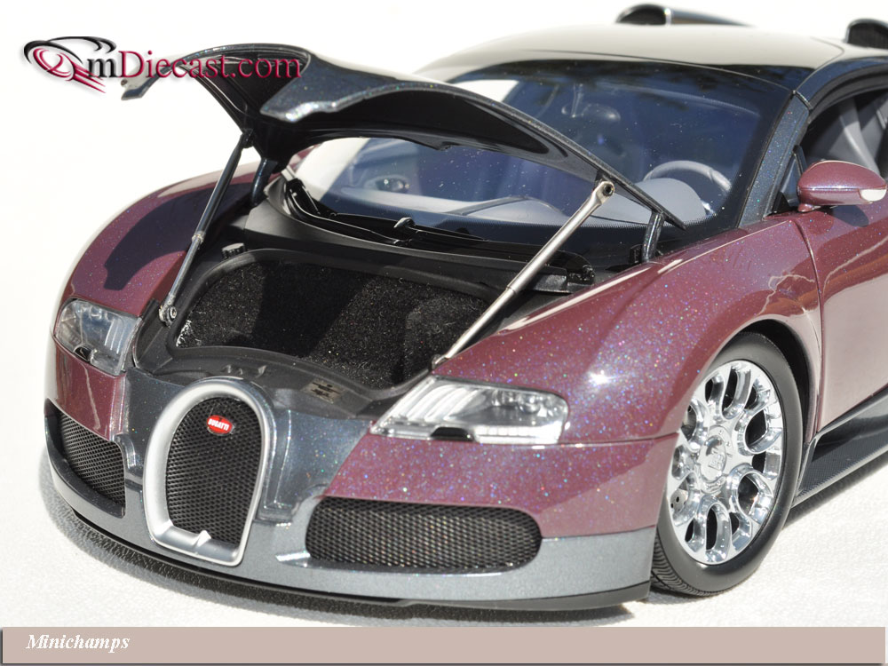 Minichamps: 2010 Bugatti Veyron Grand Sport - Graphite/Grey (100 110830) in 1:18 scale . Picture provided by Alex, 2010-10-05 13:24:28