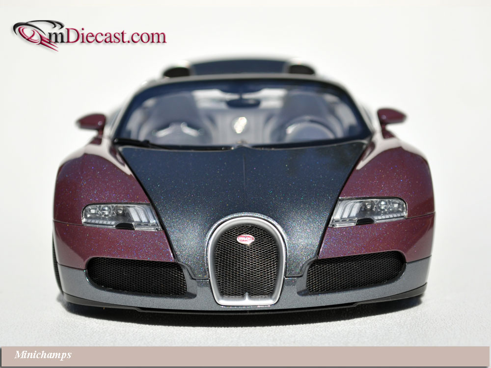 minichamps 2010 bugatti veyron grand sport graphite grey 100 110830 in 1. Black Bedroom Furniture Sets. Home Design Ideas