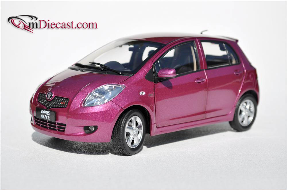 All Brands Of Cars >> Paudi Model: 2008 Toyota Yaris - Purple (2191P) in 1:18 scale - mDiecast