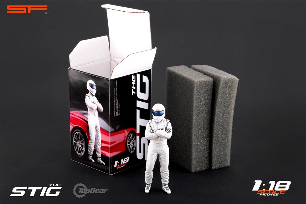 Scale Figures: Top Gear Stig Figure - White (SF118001) in 1:18 scale . Picture provided by Alex, 2011-08-31 12:04:13