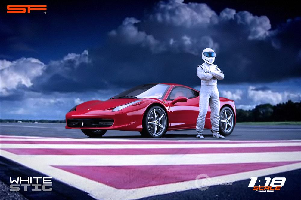 Scale Figures: Top Gear Stig Figure - White (SF118001) in 1:18 scale . Picture provided by Alex, 2011-08-31 12:01:30