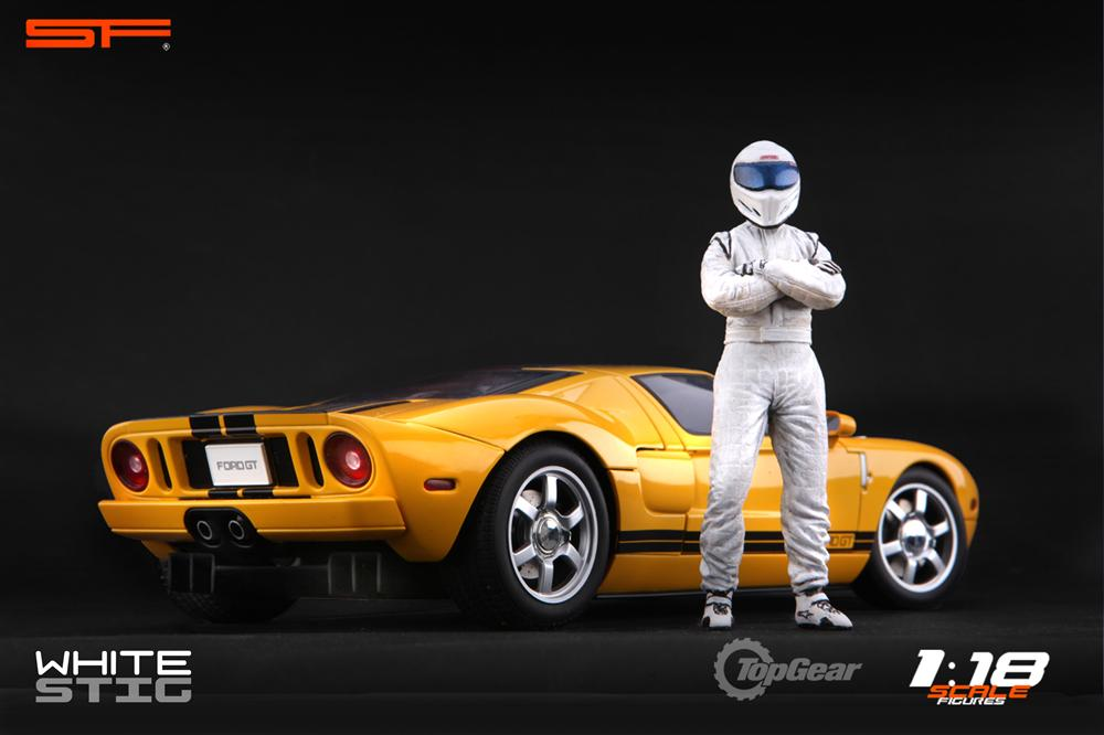 Scale Figures: Top Gear Stig Figure - White (SF118001) in 1:18 scale . Picture provided by Alex, 2011-08-31 12:02:16