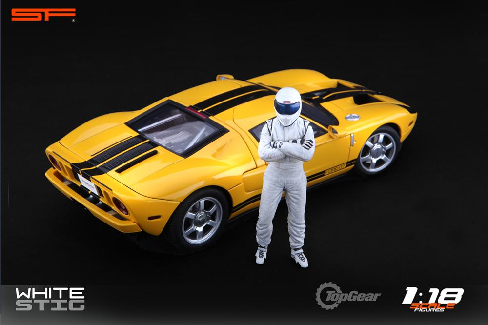 Scale Figures: Top Gear Stig Figure - White (SF118001) in 1:18 scale . Picture provided by Alex, 2011-08-31 12:02:21
