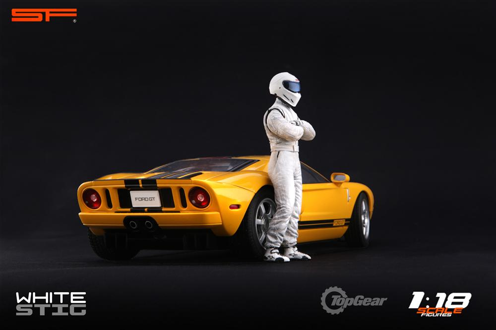 Scale Figures: Top Gear Stig Figure - White (SF118001) in 1:18 scale . Picture provided by Alex, 2011-08-31 12:02:27