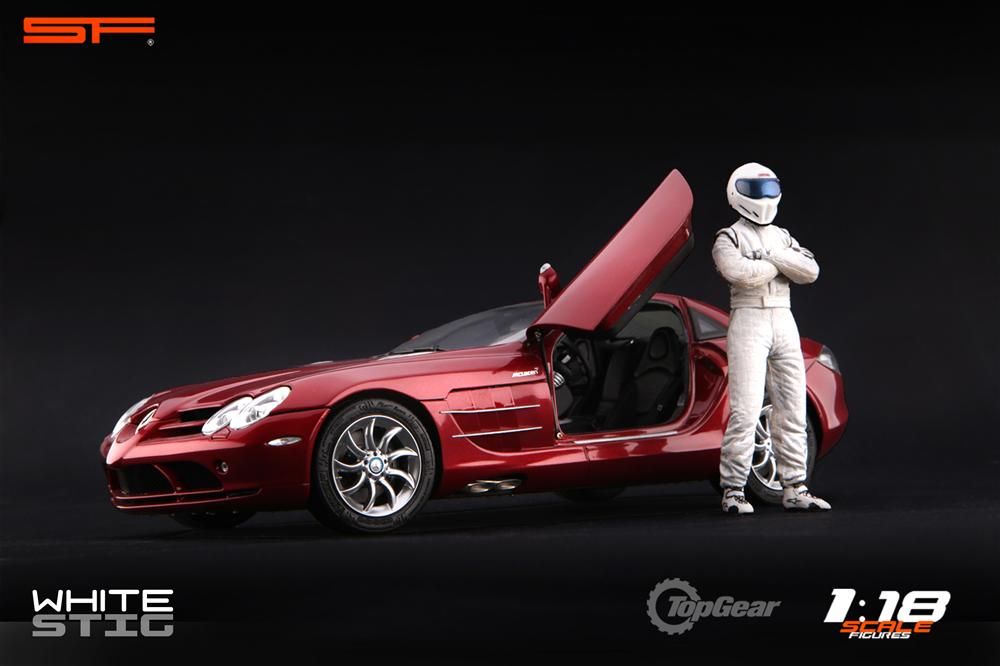 Scale Figures: Top Gear Stig Figure - White (SF118001) in 1:18 scale . Picture provided by Alex, 2011-08-31 12:02:32
