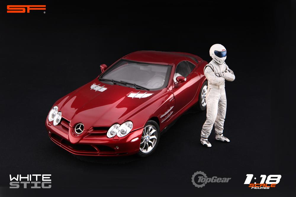 Scale Figures: Top Gear Stig Figure - White (SF118001) in 1:18 scale . Picture provided by Alex, 2011-08-31 12:02:36