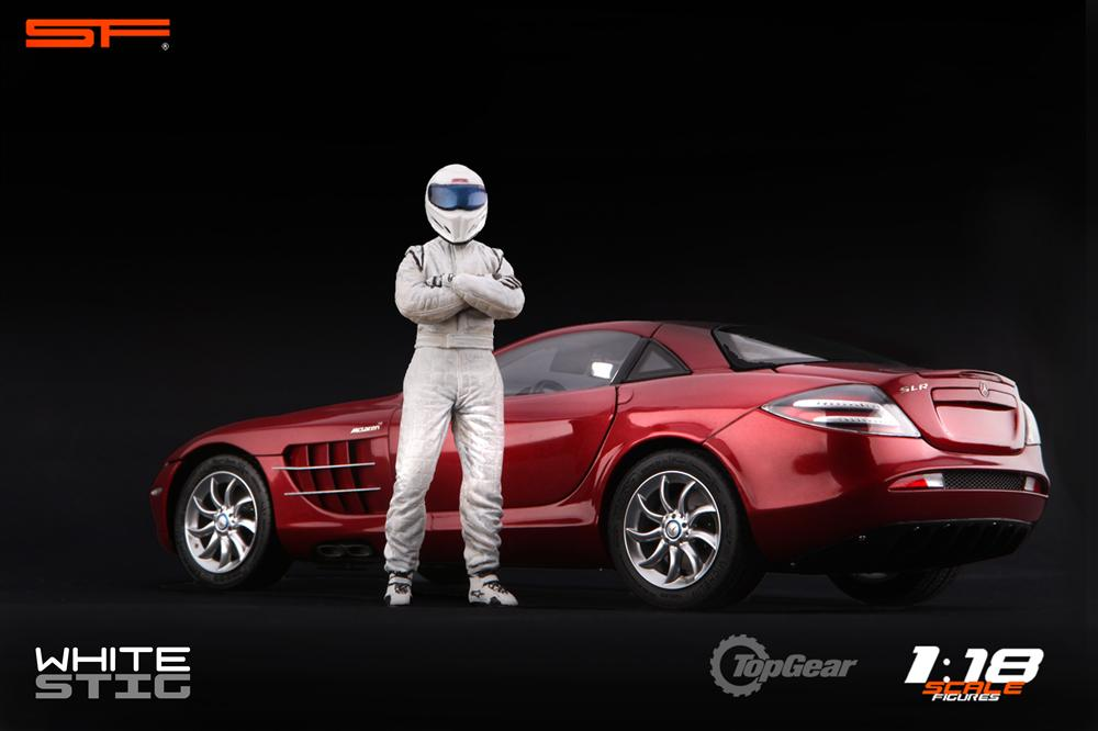 Scale Figures: Top Gear Stig Figure - White (SF118001) in 1:18 scale . Picture provided by Alex, 2011-08-31 12:02:41