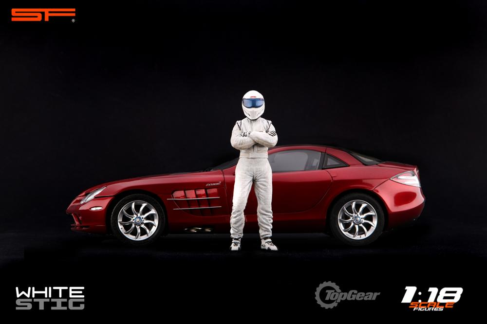 Scale Figures: Top Gear Stig Figure - White (SF118001) in 1:18 scale . Picture provided by Alex, 2011-08-31 12:02:44