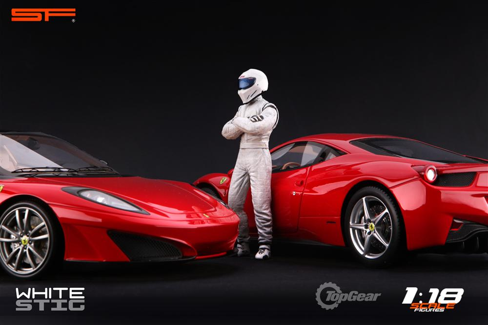 Scale Figures: Top Gear Stig Figure - White (SF118001) in 1:18 scale . Picture provided by Alex, 2011-08-31 12:01:34