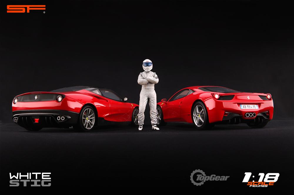 Scale Figures: Top Gear Stig Figure - White (SF118001) in 1:18 scale . Picture provided by Alex, 2011-08-31 12:01:39