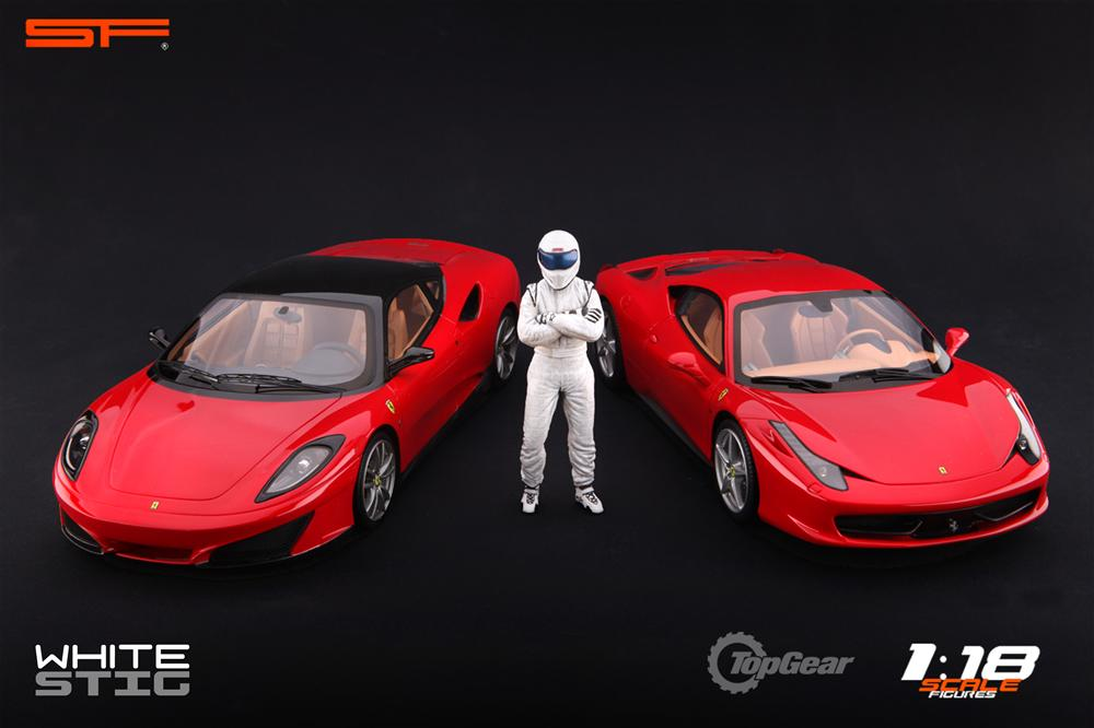 Scale Figures: Top Gear Stig Figure - White (SF118001) in 1:18 scale . Picture provided by Alex, 2011-08-31 12:01:44