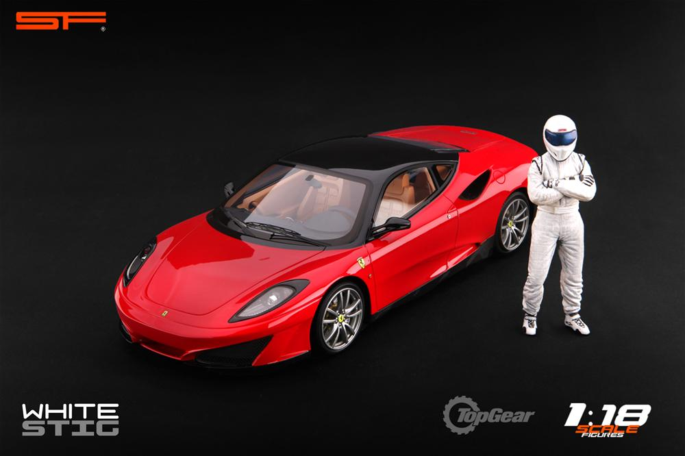 Scale Figures: Top Gear Stig Figure - White (SF118001) in 1:18 scale . Picture provided by Alex, 2011-08-31 12:01:54