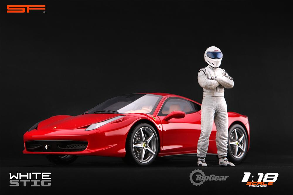 Scale Figures: Top Gear Stig Figure - White (SF118001) in 1:18 scale . Picture provided by Alex, 2011-08-31 12:02:04
