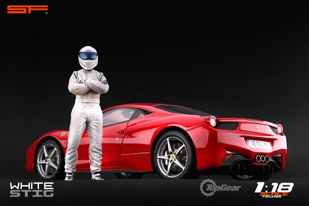Scale Figures: Top Gear Stig Figure - White (SF118001) in 1:18 scale . Picture provided by Alex, 2011-08-31 12:02:08
