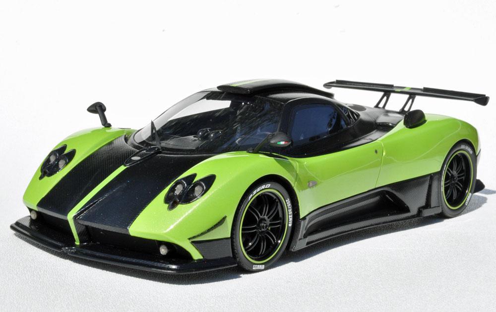 List Of Cars >> Peako Model: Pagani Zonda Cinque - Green (18005GRZC) in 1:18 scale - mDiecast