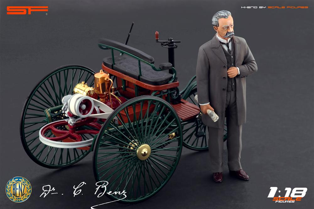 Karl Benz: Scale Figures: Karl Benz Figure (SF118009) In 1:18 Scale