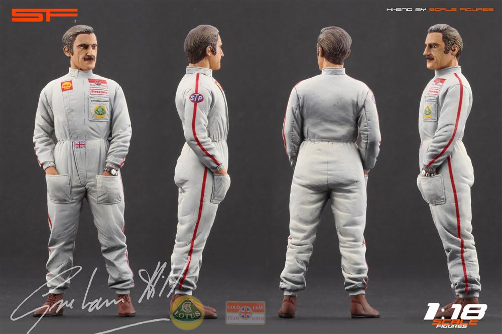 Scale Figures: Graham Hill Figure (SF118023) in 1:18 scale