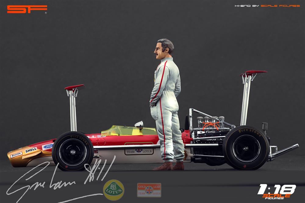 Scale Figures: Graham Hill Figure (SF118023) in 1:18 scale . Picture provided by Alex, 2012-10-19 10:33:26