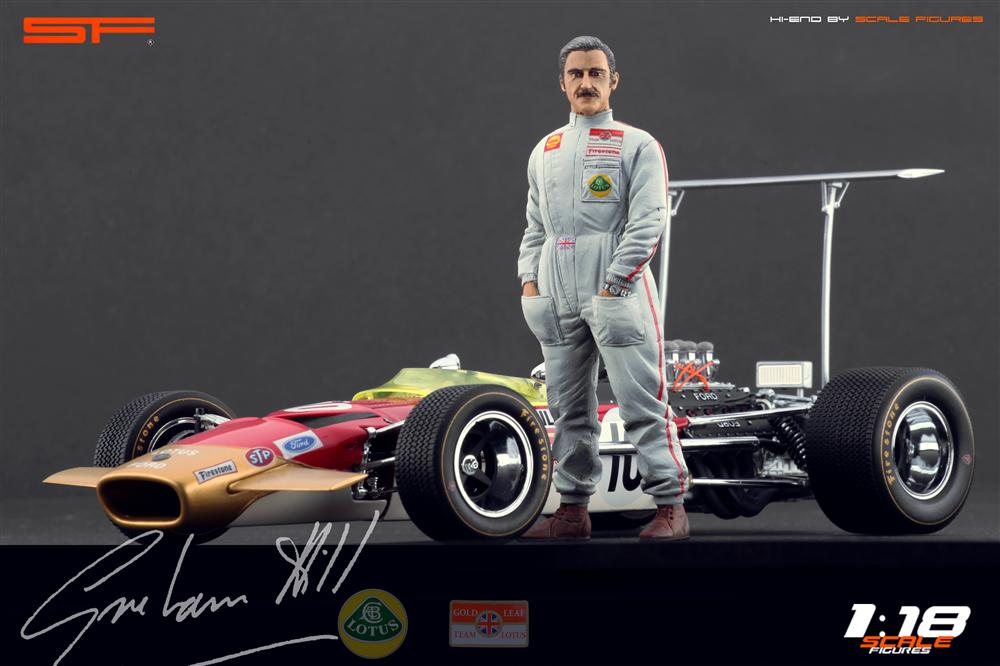 Scale Figures: Graham Hill Figure (SF118023) in 1:18 scale . Picture provided by Alex, 2012-10-19 10:32:44