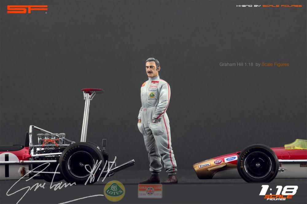 Scale Figures: Graham Hill Figure (SF118023) in 1:18 scale . Picture provided by Alex, 2012-10-19 10:33:00