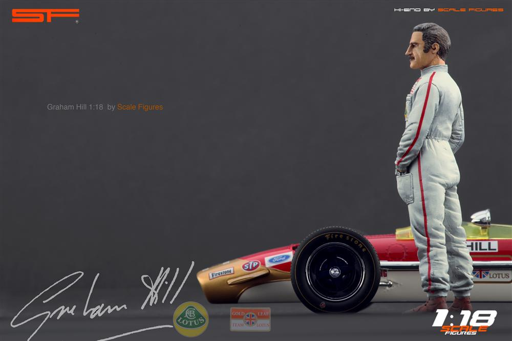 Scale Figures: Graham Hill Figure (SF118023) in 1:18 scale . Picture provided by Alex, 2012-10-19 10:33:10