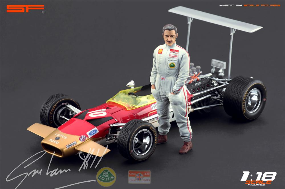 Scale Figures: Graham Hill Figure (SF118023) in 1:18 scale . Picture provided by Alex, 2012-10-19 10:33:16