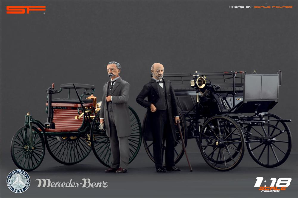 Scale Figures: Karl Benz and Gottlieb Daimler Figures (SF118013) in