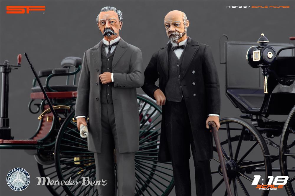Karl Benz: Scale Figures: Karl Benz And Gottlieb Daimler Figures