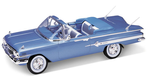 Welly: 1960 Chevrolet Impala - Blue (9864) in 1:18 scale . Picture provided by Alex, 2006-07-14 00:19:56