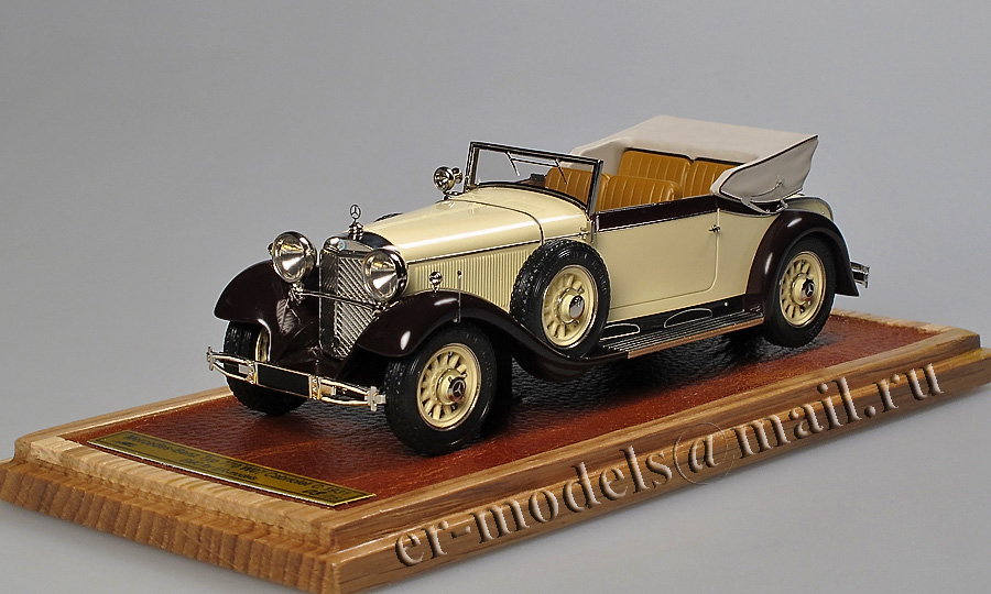 Emc  1931 Mercedes-benz Typ 770 Cabriolet C Open In 1 43 Scale