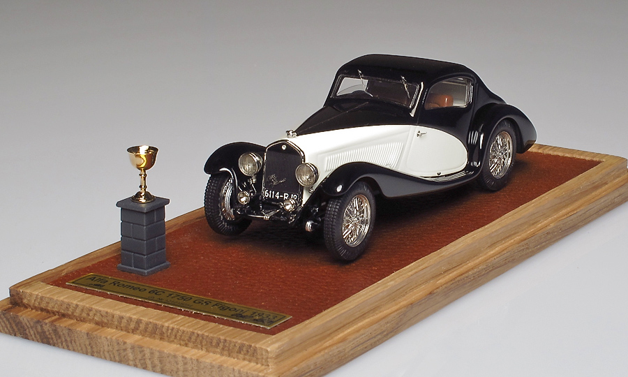 EMC: 1933 Alfa Romeo 6C 1750 GS Figoni im 1:43 maßstab . Picture provided by Alexey S, 2013-09-01 10:00:03