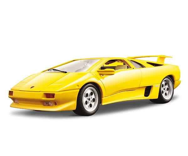 Lamborghini Diablo: Bburago: 1990 Lamborghini Diablo Yellow (3041) In 1:18