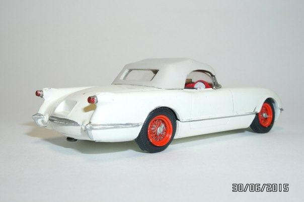A Model: 1954 Chevrolet Corvette C1 (PM 010) in 1:2 scale . Picture provided by George, 2015-11-09 11:43:26