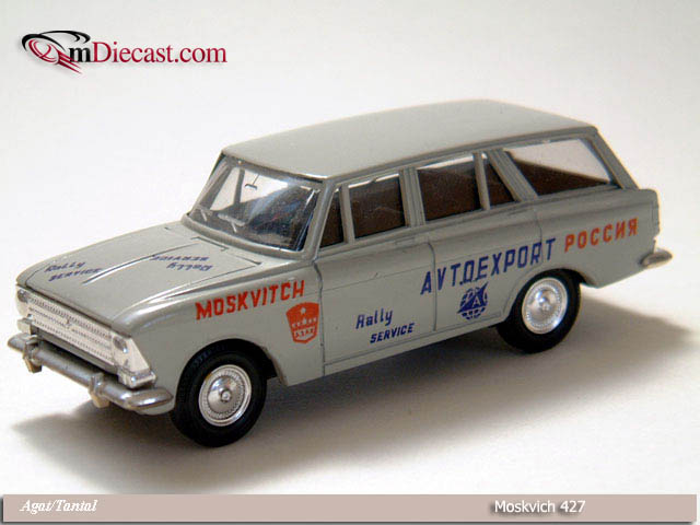 Agat/Tantal: Moskvich 427 Rally Service - Grey in 1:43 scale