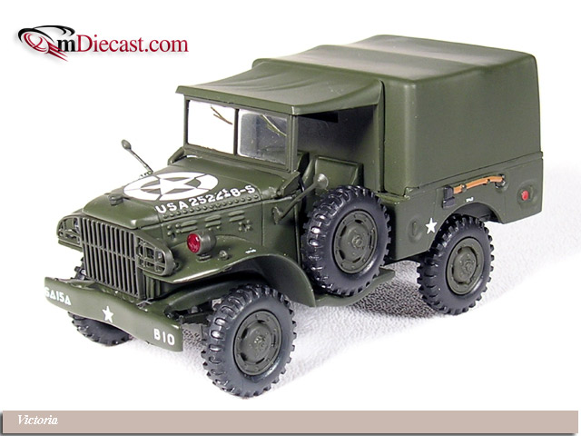 A Model: Dodge WC51 Weapons Carrier U.S. Army Closed (R047) in 1:43 scale