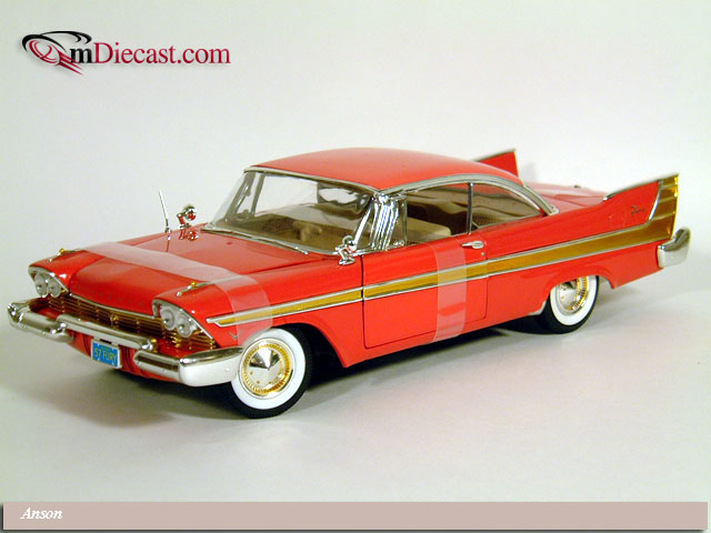 Anson: 1957 Plymouth Fury - Red (30398) в 1:18 масштабе