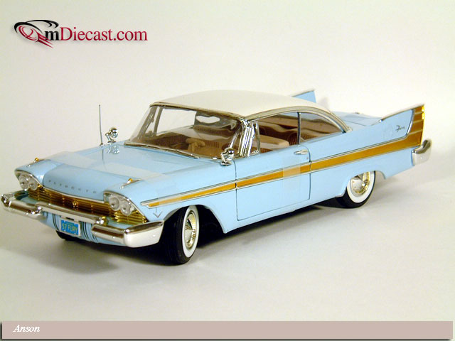 Anson: 1957 Plymouth Fury - Blue (30398) in 1:18 scale