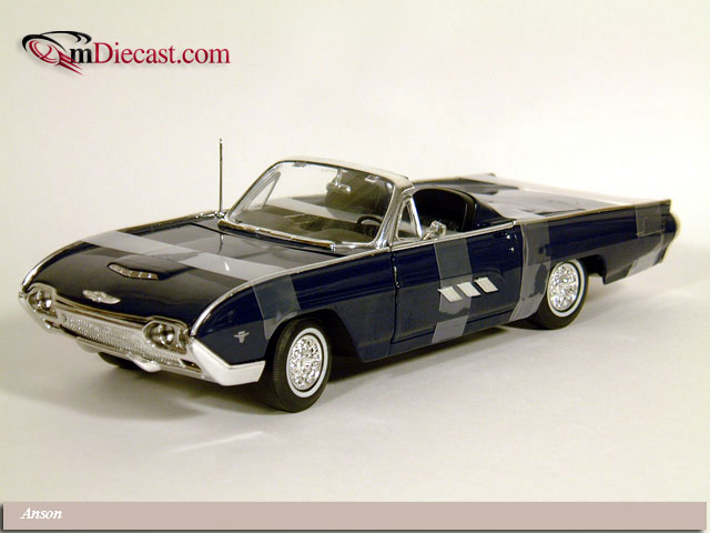 Anson: 1963 Ford Thunderbird Sport Roadster - Dark Blue (30334) in 1:18 scale